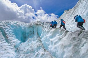Hiking on Glaciers and Ice Climbing