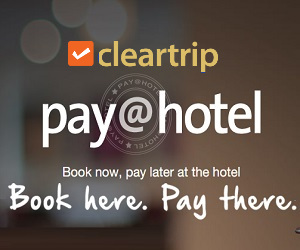Book here at cleartrip and pay later at your destination
