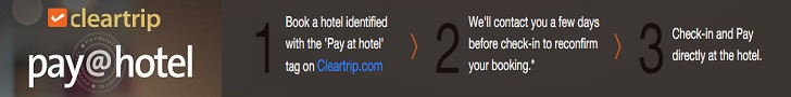 Book here at cleartrip and pay later at your destination.